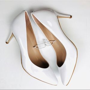 KATE SPADE NY white Vivian pointed toe pumps